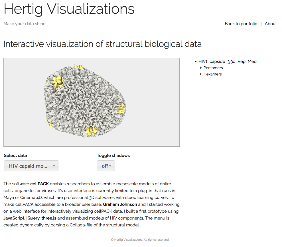 Sample 3: Interactive Web-Viewer for Structural Biology Data